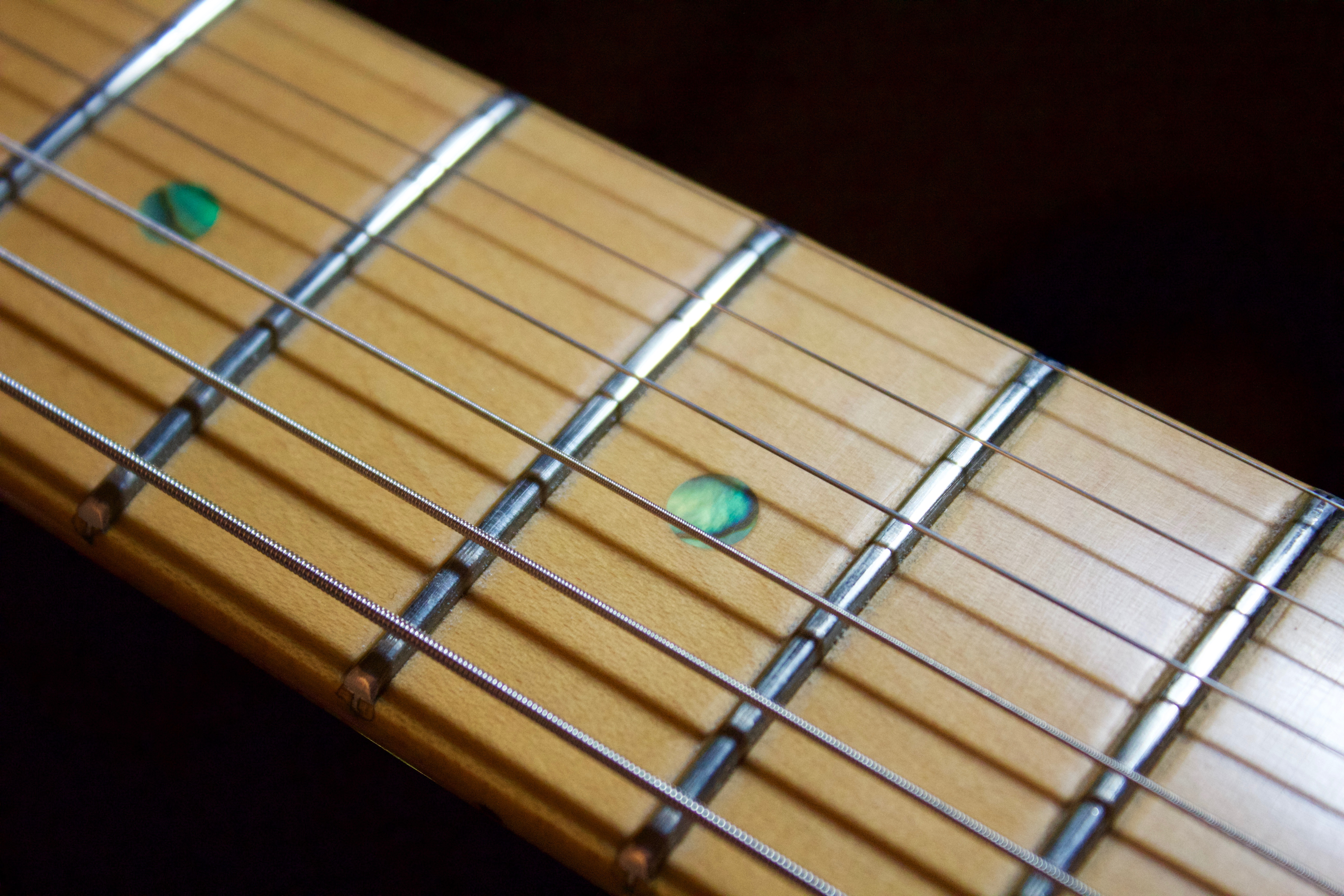 A Maple guitar fingerboard