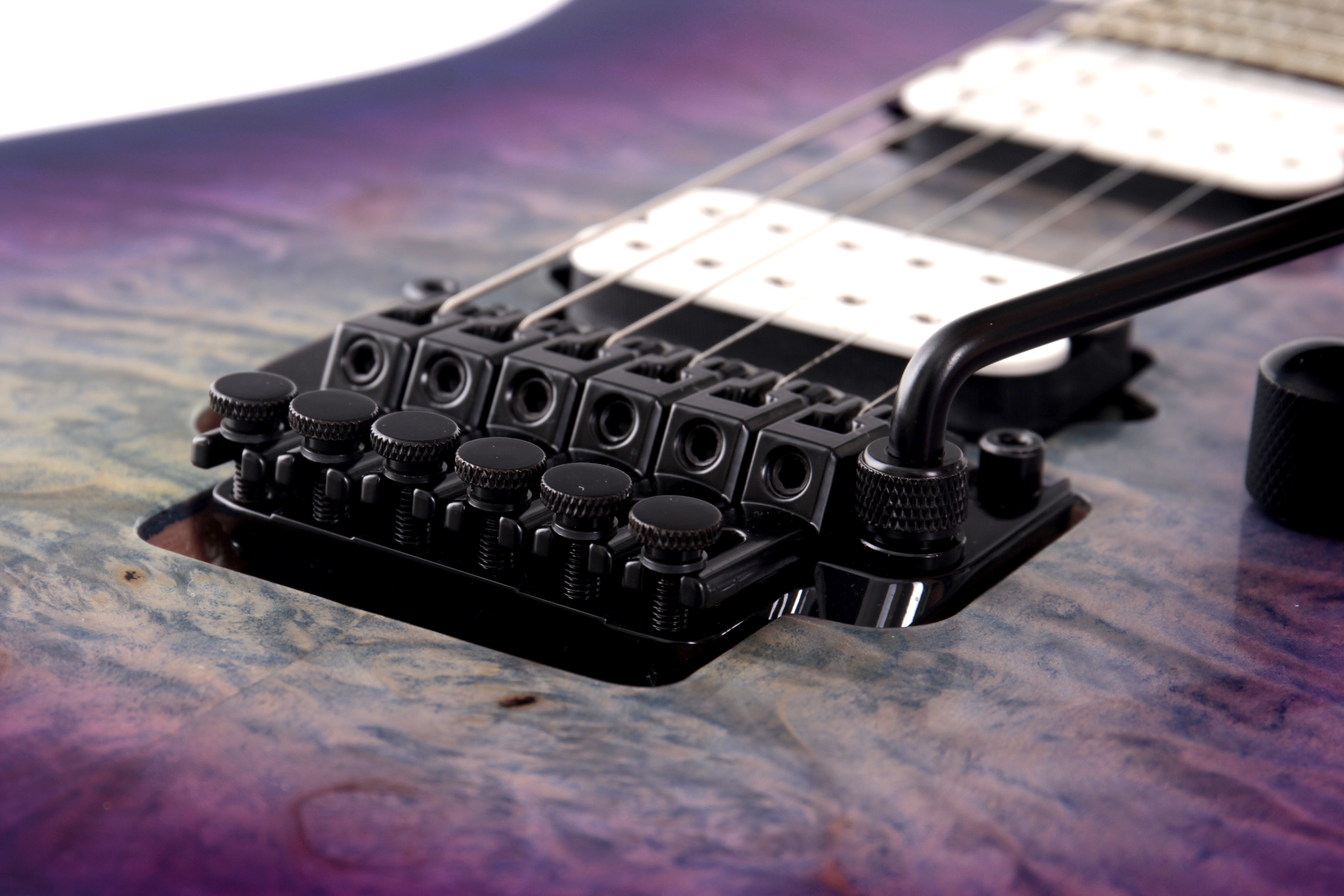 Ibanez Edge Floyd Rose tremolo bridge on an Ibanez RG guitar