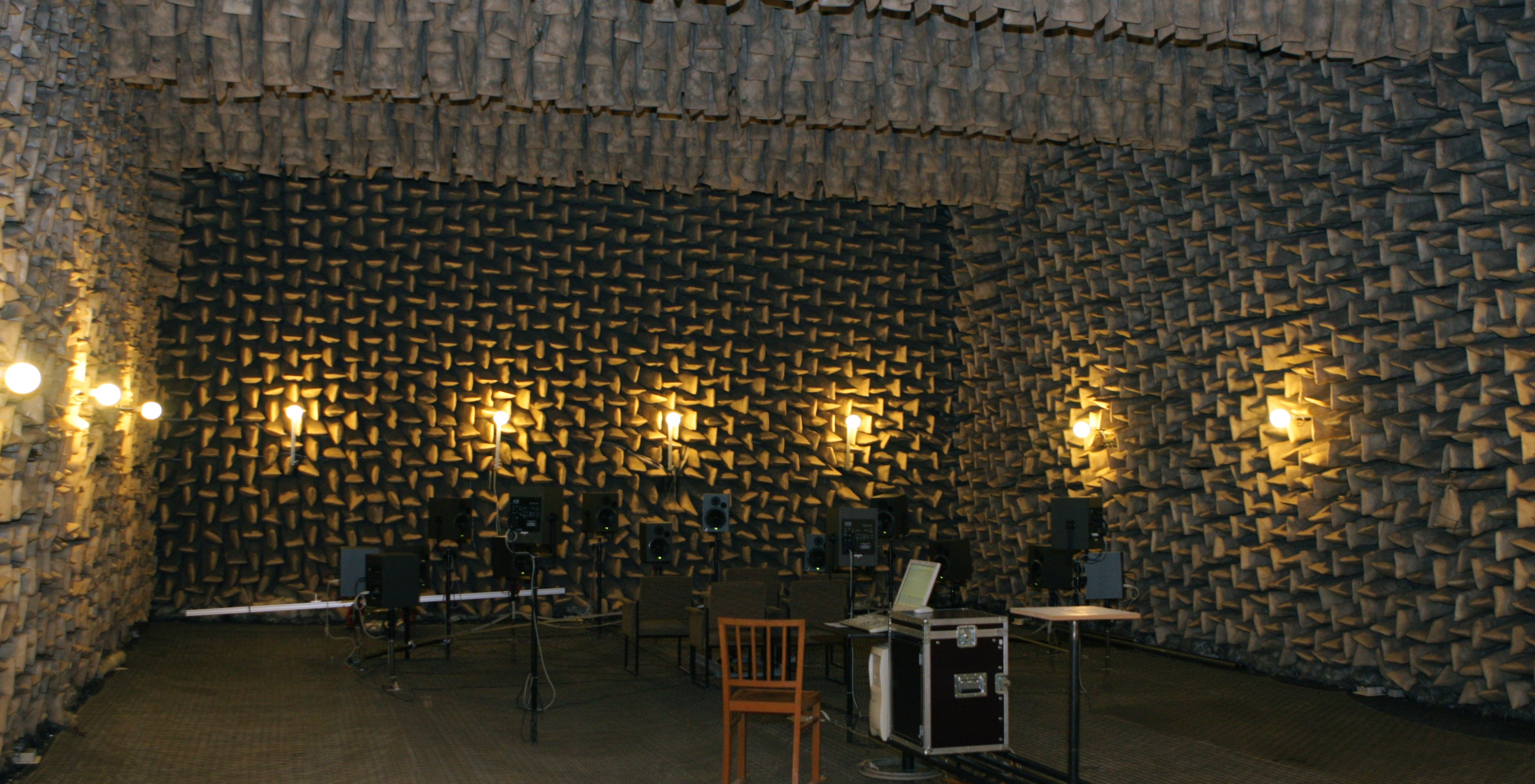 An anechoic room at the Dresden University of Technology