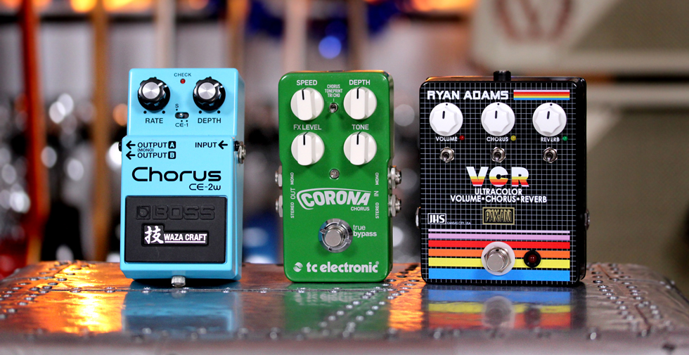 Chorus Pedals on a Pedalboard