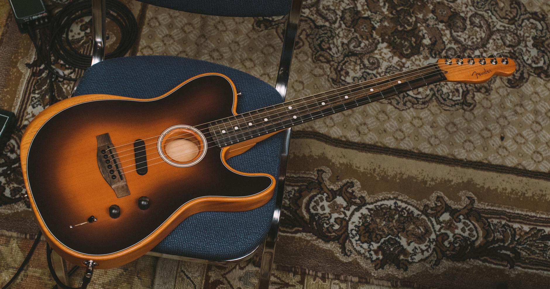 Fender Acoustasonic Tele vs  Taylor T5Z - Andertons Blog