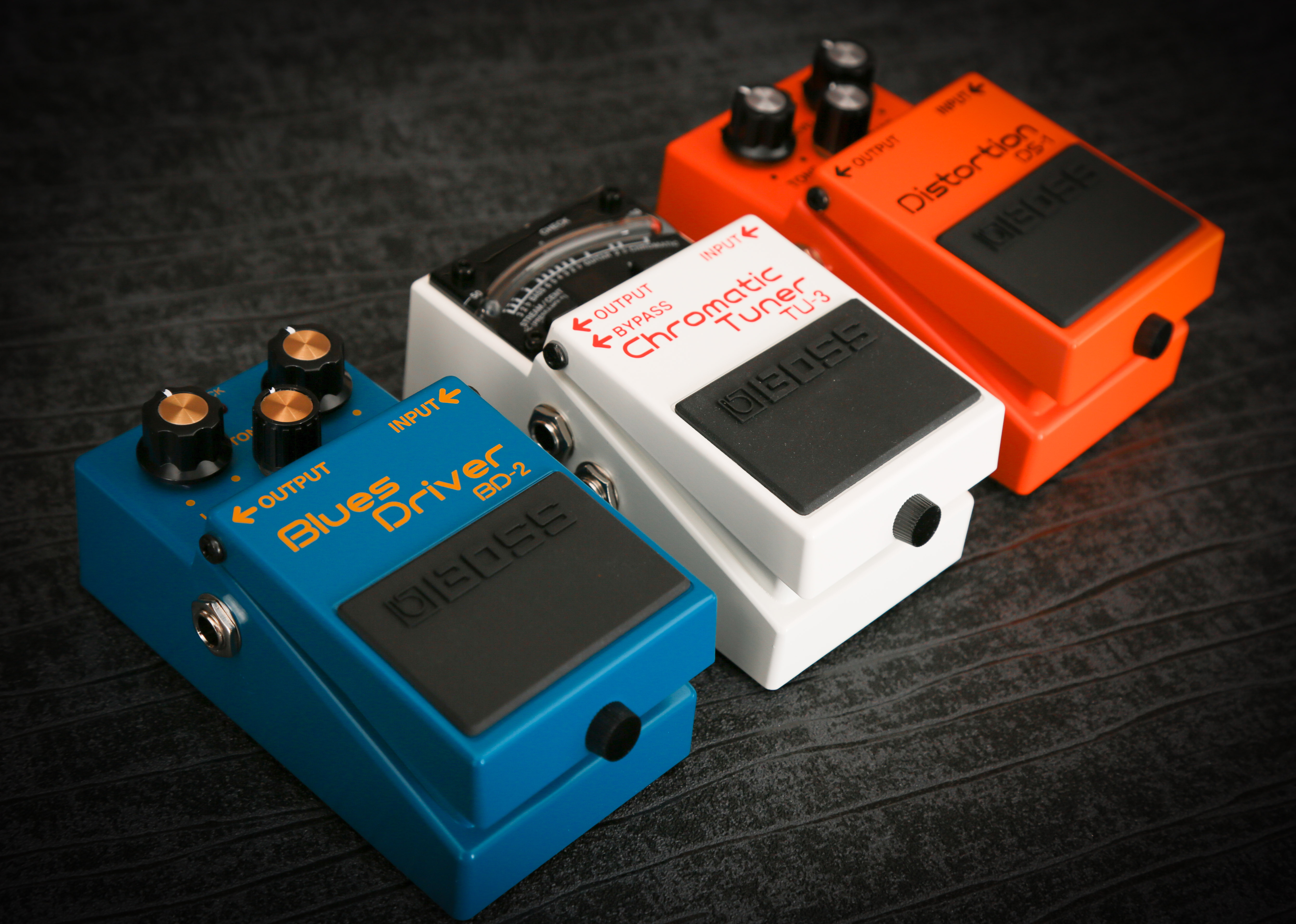 boss blues driver, tuner, distortion