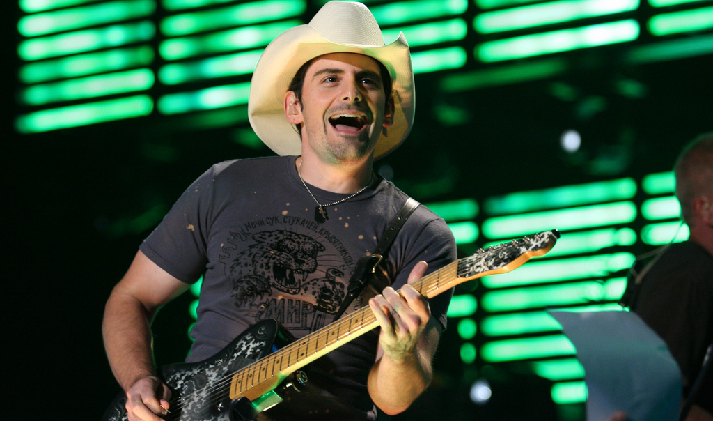 Brad Paisley Playing His Fender Telecaster