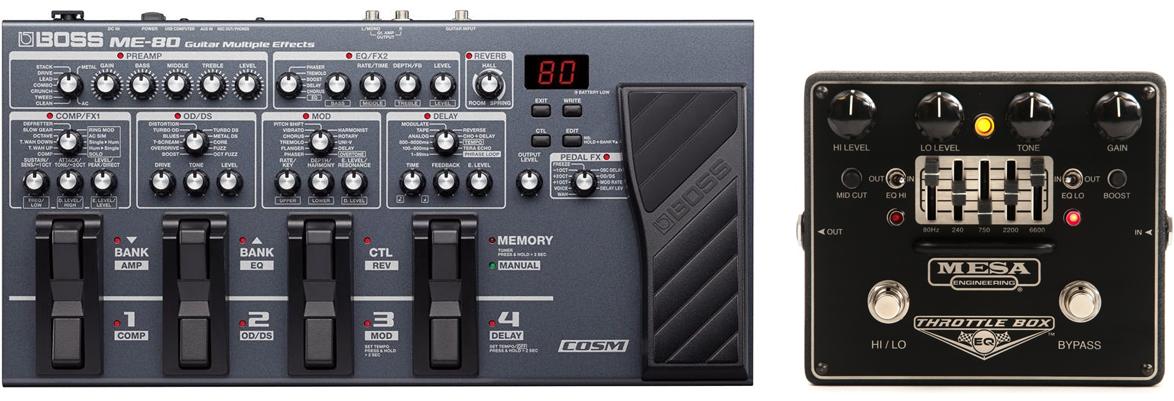 Sound Like Korn Pedals Boss ME-80 Mesa/Boogie Throttle Box
