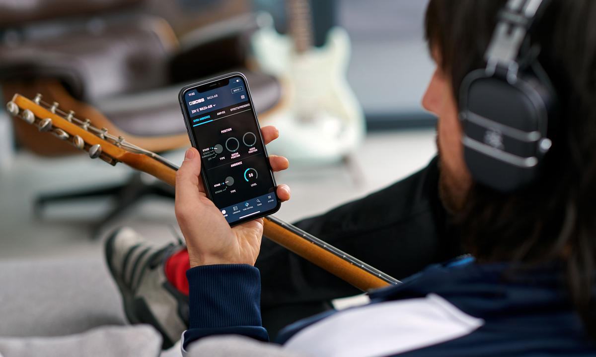 BOSS Waza Air Wireless Guitar Headphones Tone Studio