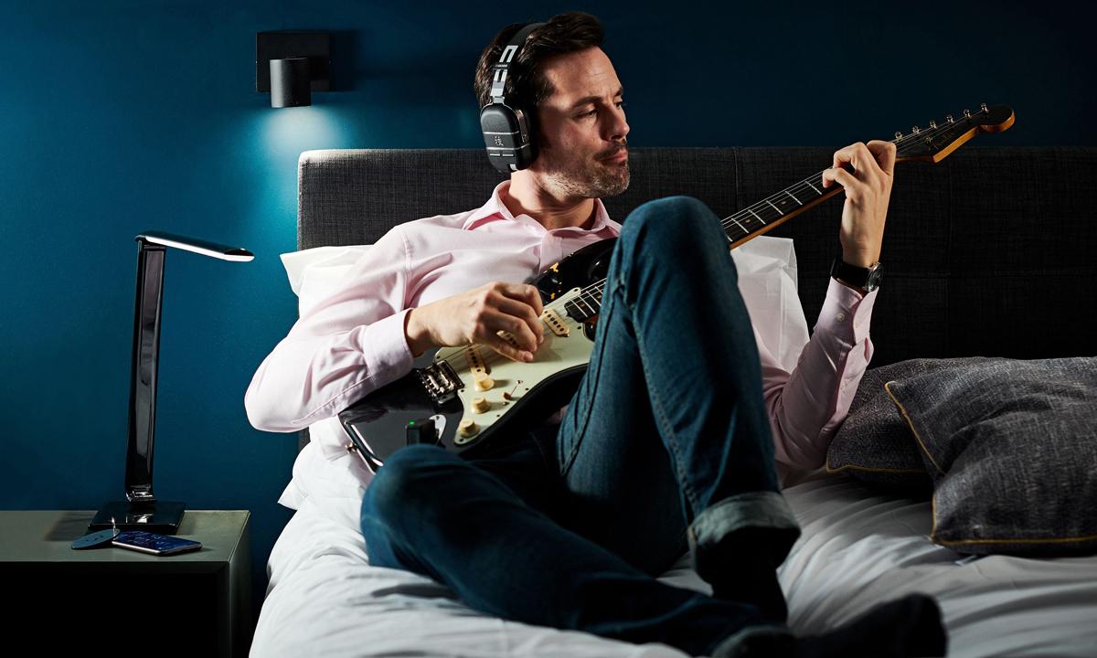 BOSS Waza-Air Wireless Headphones Bed